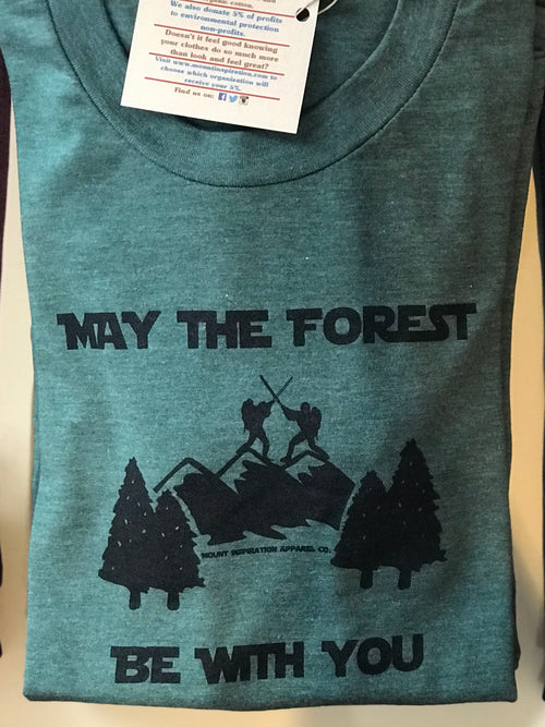 """May The Forest Be With You"" Short Sleeve T-Shirt in Pine"