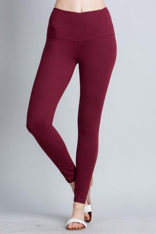Yoga Waistband Leggings in Olive