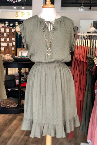 Gretchen Swing Dress in Light Gray