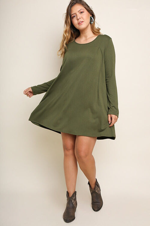 Holly PLUS Dress in Olive