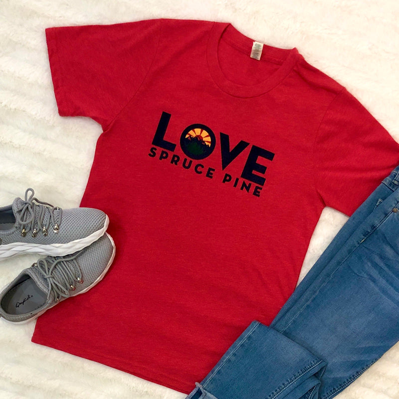 LOVE Spruce Pine T-Shirt in Tomato