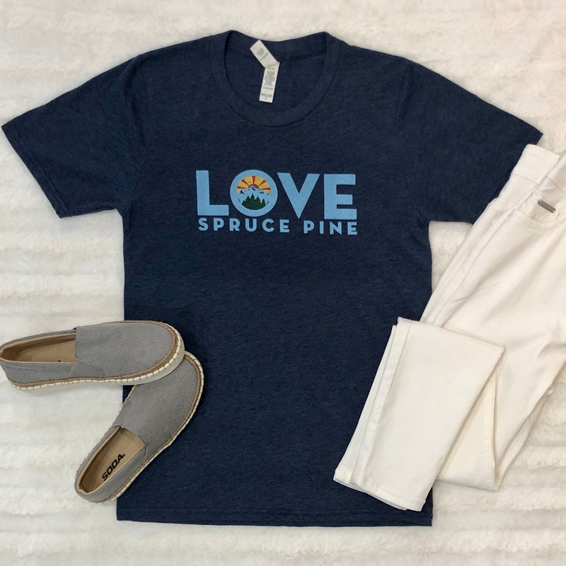 LOVE Spruce Pine T-Shirt in Blue