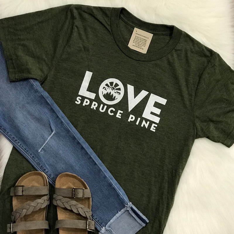 LOVE Spruce Pine T-Shirt in Olive