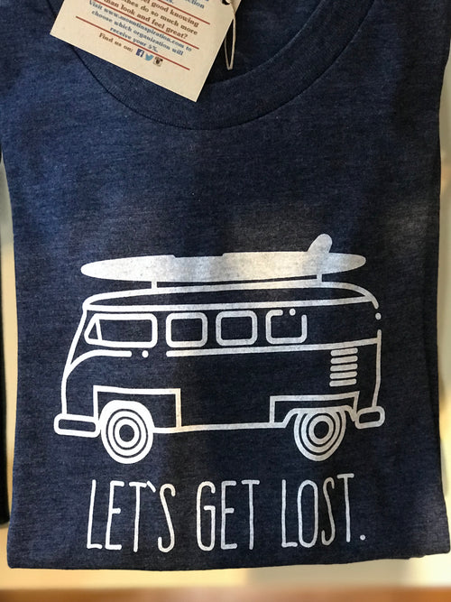 """Let's Get Lost"" Short Sleeve T-Shirt in Dusk"