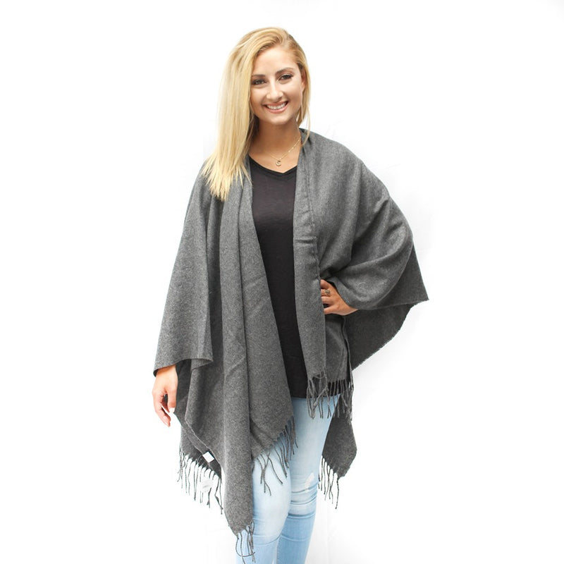Katherine Wrap in Dark Gray