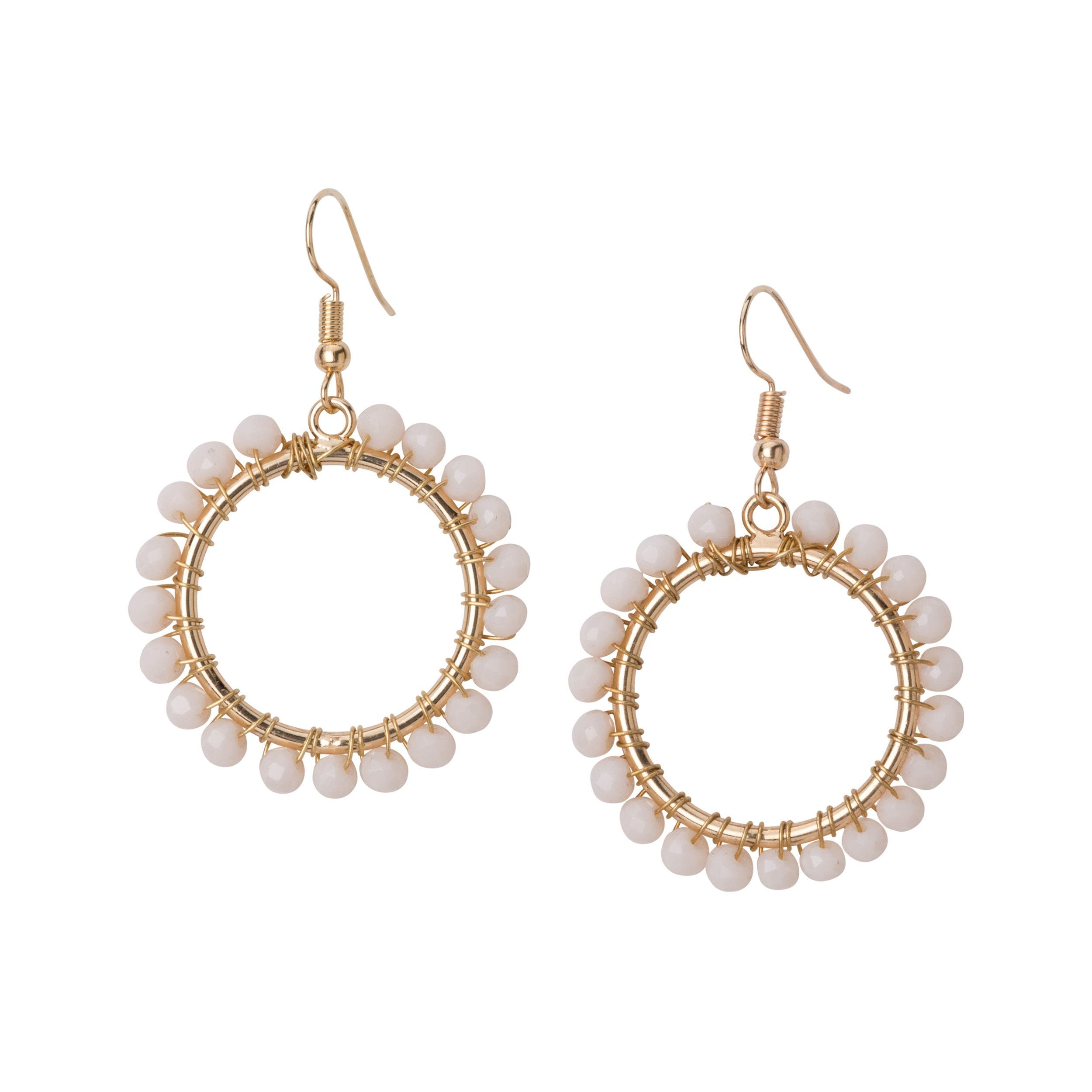 drop open earrings circle happiness en boutique