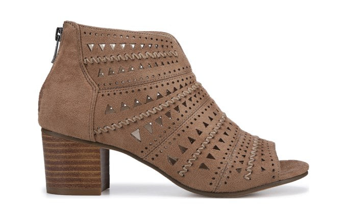 Not Rated's Luina Peep Toe Bootie in Taupe
