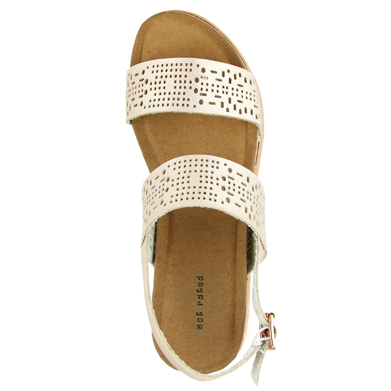 3ca5bf864f2 Not Rated s Anatalia Sandal in Champagne – Spruced Boutique