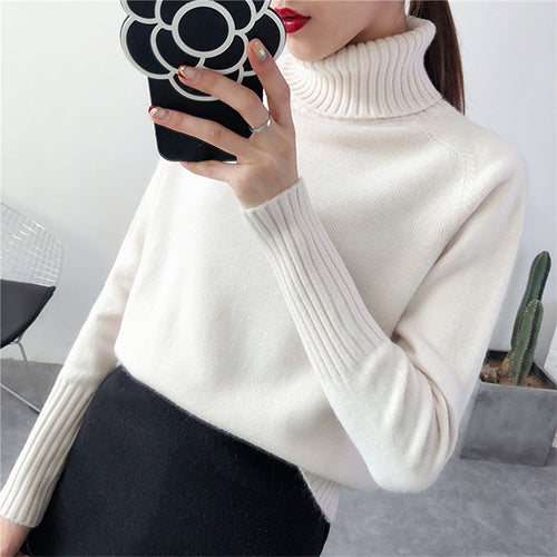Sweater Female 2019 Autumn Winter Cashmere Knitted Women Sweater Pullover