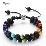 Bracelet Men Women Lava Rock Aromatherapy Essential Oil Diffuser Bracelet Braided