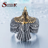Steel soldier Unique jewelry Stainless Steel Biker Eagle Ring Man's High Quality Jewelry - Star Bright Jewelry