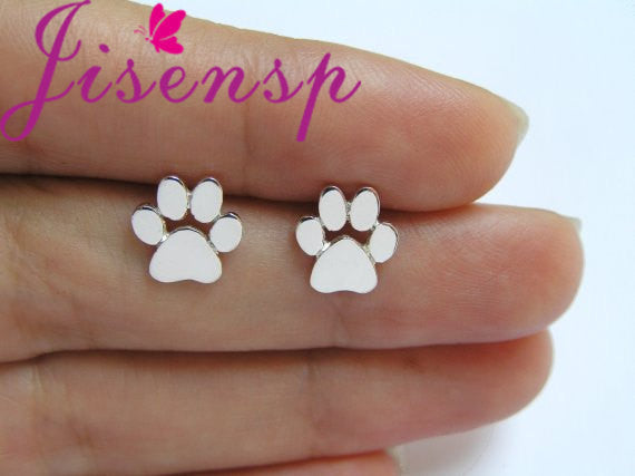 Cute Paw Print Earrings for Women Cat and Dog Paw Stud Earrings E124 - Star Bright Jewelry