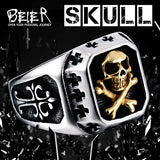 Stainless Steel ring  biker Ring skull Man's special copper fashion jewelry - Star Bright Jewelry