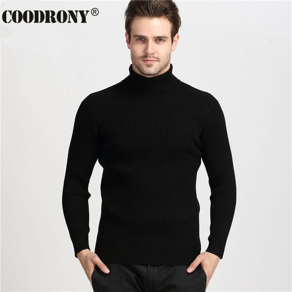 Winter Thick Warm 100% Cashmere Sweater Men Turtleneck Sweaters Slim Fit Pullover - Star Bright Jewelry