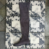 Suede Thigh High Flat Boots Women Over the Knee Boots Stretch Sexy Fashion Winter - Star Bright Jewelry