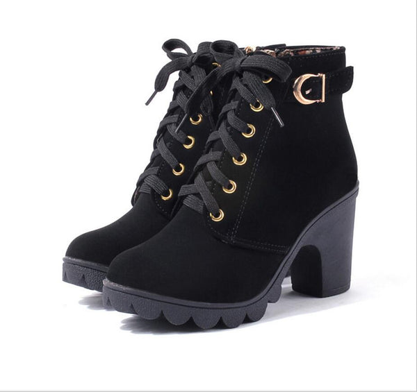 Europe and the United States autumn and winter snow boots warm rough with women's boots - Star Bright Jewelry