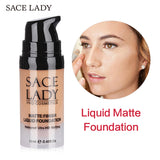SACE LADY 6 Colors Liquid Foundation Waterproof Matte Makeup - Star Bright Jewelry