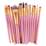 Pro 15Pcs Makeup Brushes Set Eye Shadow Foundation Powder Eyeliner Eyelash Lip Make Up Brush - Star Bright Jewelry