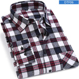 Men Flannel Plaid Shirt 100% Cotton Spring Autumn Casual Long Sleeve Shirt