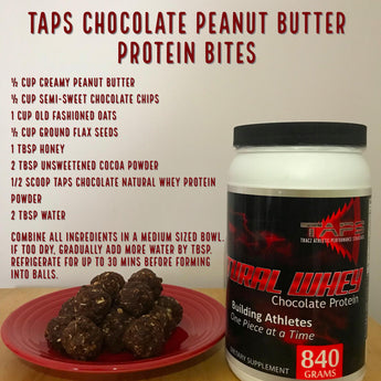 TAPS Chocolate Peanut Butter Protein Bites
