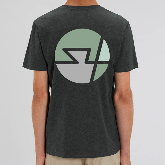 S4 Block Tee - Dark Heather Grey
