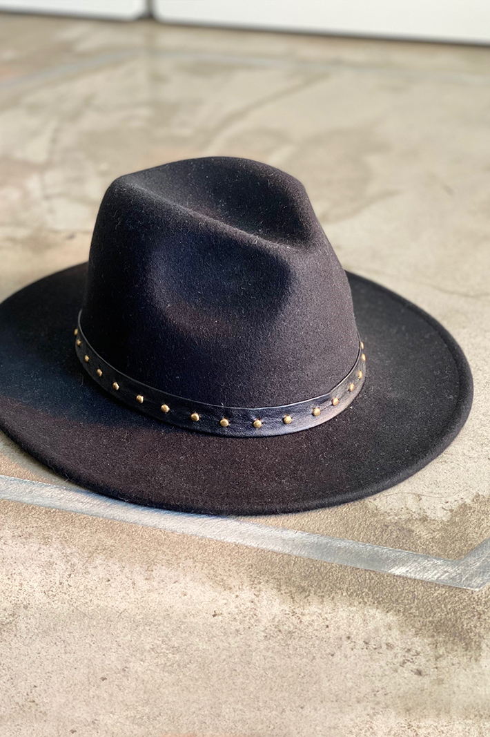 The Black Cowboy Nitim wool hat