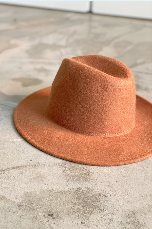 The Terra cota Cowboy wool hat