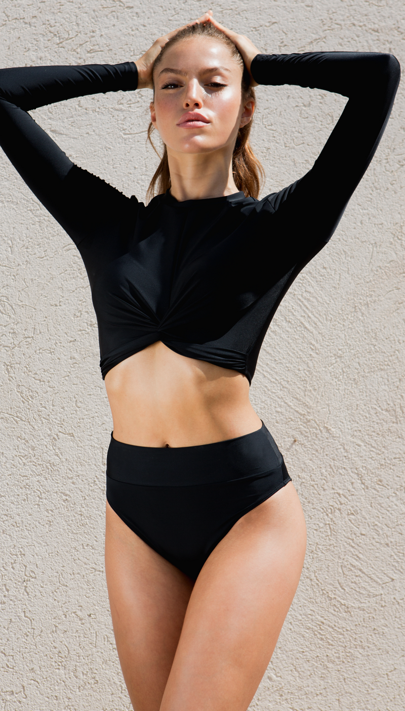 The classic new Black T Set high waist BIKINI