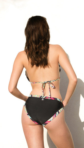 TULI Black Bikini with a frill