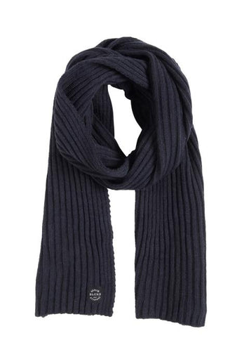 Blend He Ribbed Scarf Navy