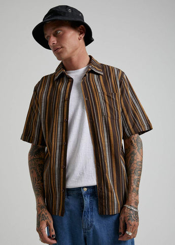 Afends Motel Short Sleeve Shirt BRACKEN