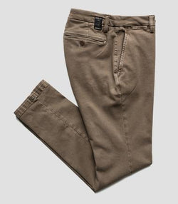 Replay  HYPERFLEX SLIM FIT ZEUMAR CHINO TROUSERS BROWN
