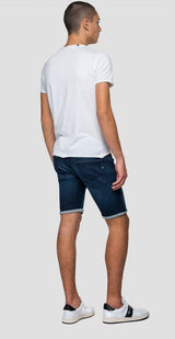 SLIM FIT HYPERFLEX CLOUDS ANBASS BERMUDA SHORTS