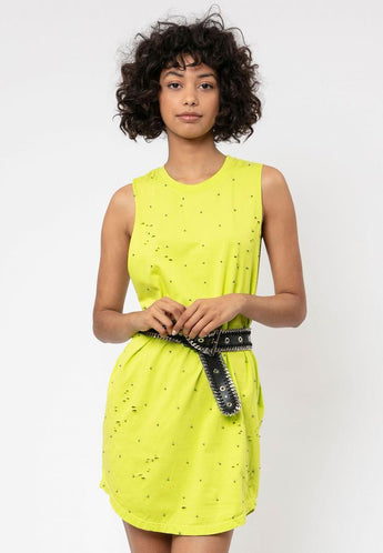 Beach Vest Dress Lime Green