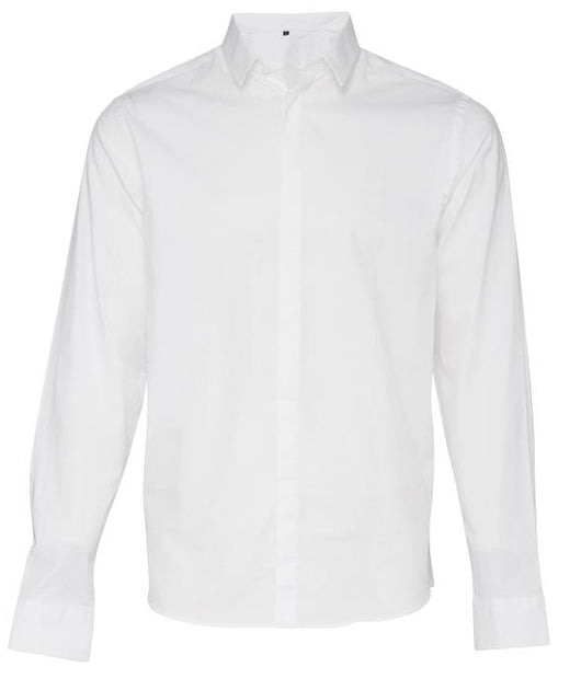 Casual Friday Pure White Hidden Button Shirt - chapter-clothing.com
