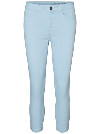 Noisy May Lucy Skinny Cropped Pants Light Blue