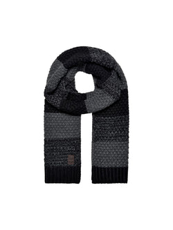Only & Sons Cenz Scarf Black Dark Grey