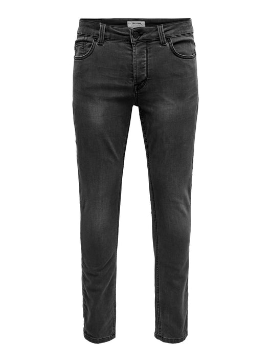 Only & Sons Loom Slim Black Jeans
