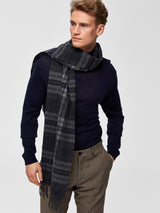 Tope Check Wool Scarf