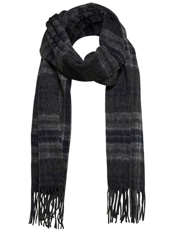 Selected Homme Tope Check Wool Scarf