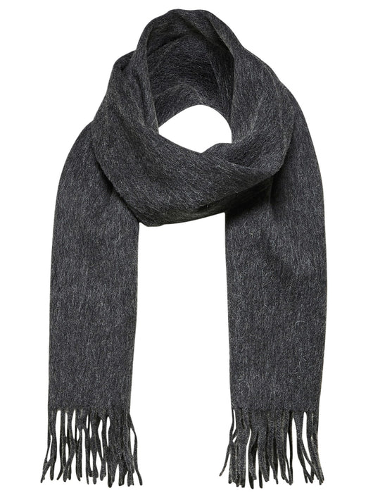 Selected Homme Tope Wool Scarf Anthracite