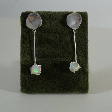 Opal LONG Dangle Earrings