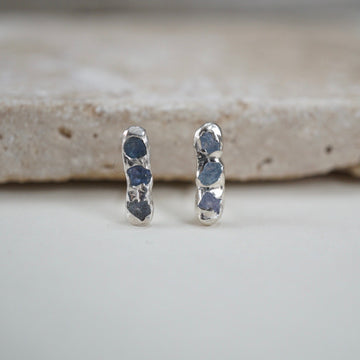 Montana Yogo Sapphire Bar Stud Earrings