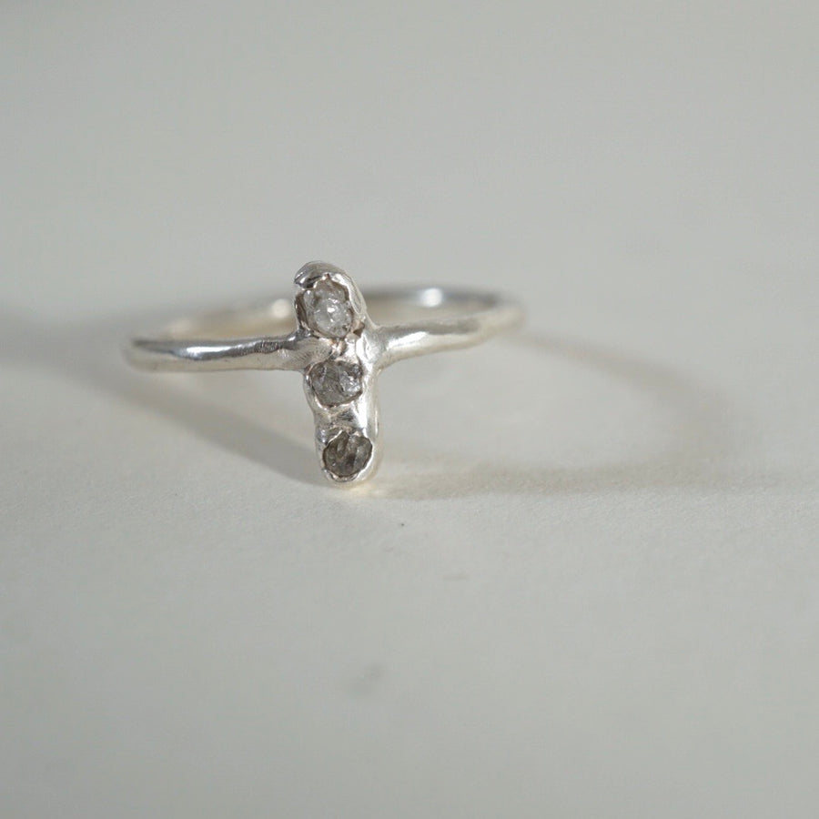Multistone Raw Diamond Ring