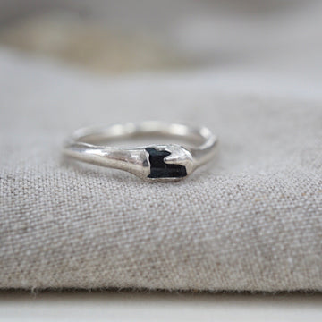 Sapphire Solitaire Imperfect Ring