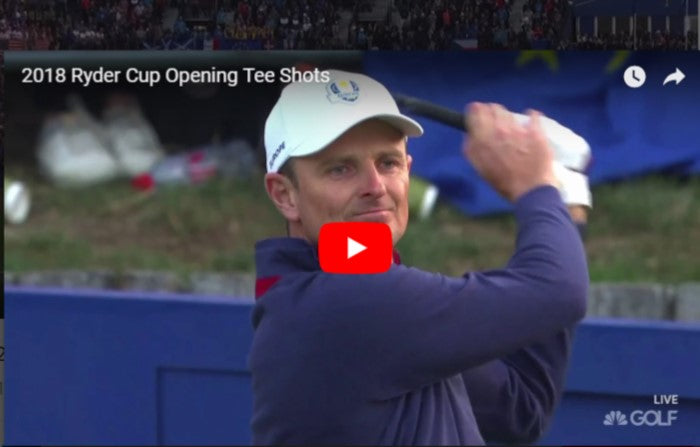 Ryder Cup Opening tee shot