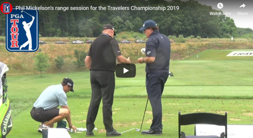 See how Phil Mickelson warms up before a round.
