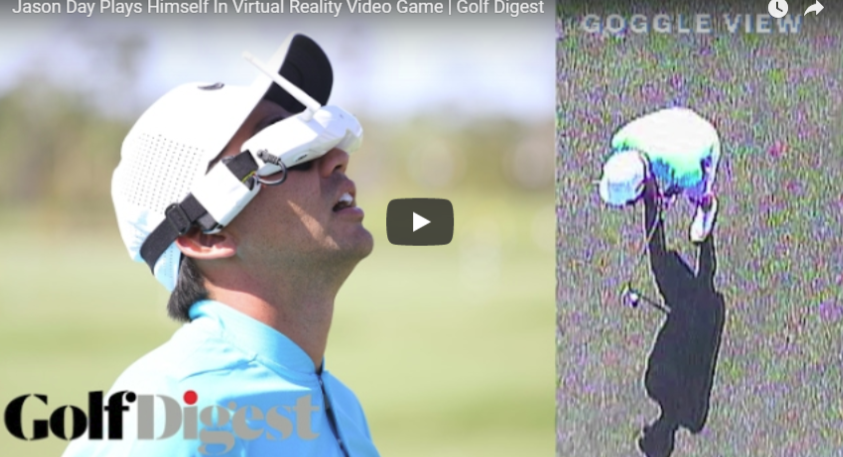 Jason Day tries golf in Virtual Reality.