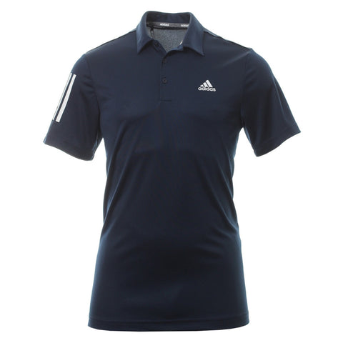 Adidas 3 Stripe Basic Polo Navy