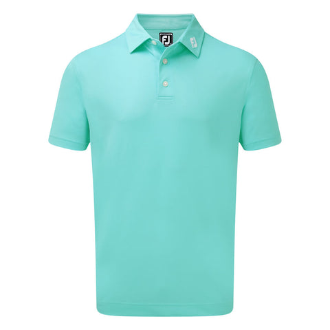 FootJoy stretch pique solid aqua shirt